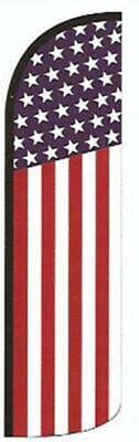 AMERICAN USA  WINDLESS BANNER FLAG Advertising Sign Feather