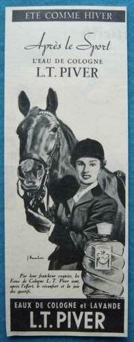 Publicité Papier - Eau de Cologne De L.T. Piver de 1956