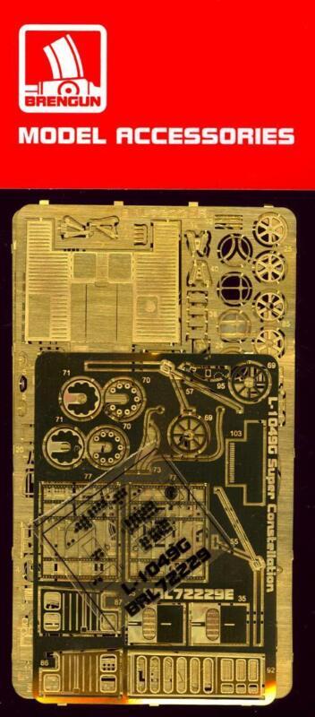 Brengun Models 1/72 LOCKHEED L-1049G SUPER CONSTELLATION Photo Etch Detail Set
