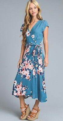 Womens Le Lis Floral Wrap Dress Stitch Fix Spring Summer L Large  U S A