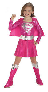 BRAND NEW Licensed DC Comics CHILD GIRLS PINK SUPER GIRL COSTUME Size TODDLER