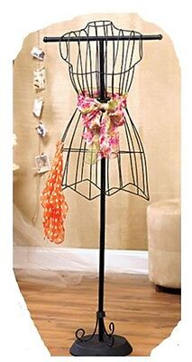 Solitary Shabby Chic Bedroom Decor Vintage Wire Dress Form Hanger Mannequin