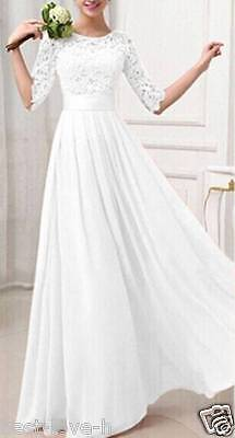 New white/Ivory Lace Bridal Gown Wedding Dress Custom size:4/6/8/10/12/14/16 18+