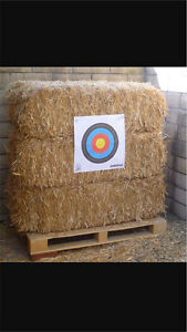 Wanted: 24 square straw bales for archery backstop