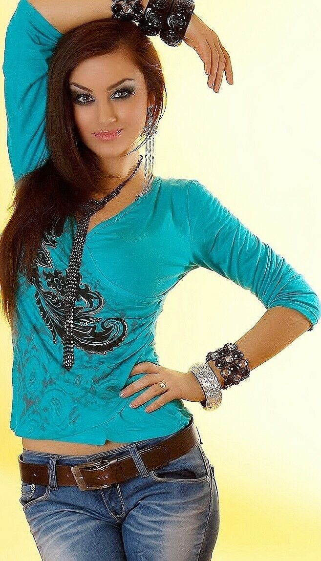 Camicia Donna Blusa / Blusa avvolgente wickelshirtlongshirt/tunica/TOP TATUAGGIO