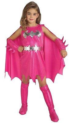 Mädchen Rosa Batgirl Batman Halloween Büchertag Kostüm Kleid Outfit 1-6 Jahre