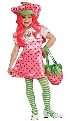 Strawberry Shortcake Costumes For Girls (Deluxe Strawberry Shortcake Costume Kids Girls Child - Size Small 4-6 - Fast)