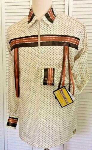 Native American Regalia Nakoda Made Genuine KeTukla-Nakoda Girl Ribbon Shirt  L