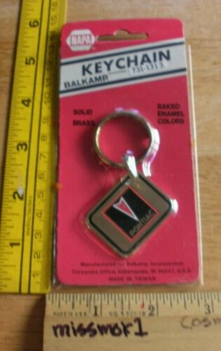 Pontiac keychain solid brass early 1980s vintage NOS NAPA