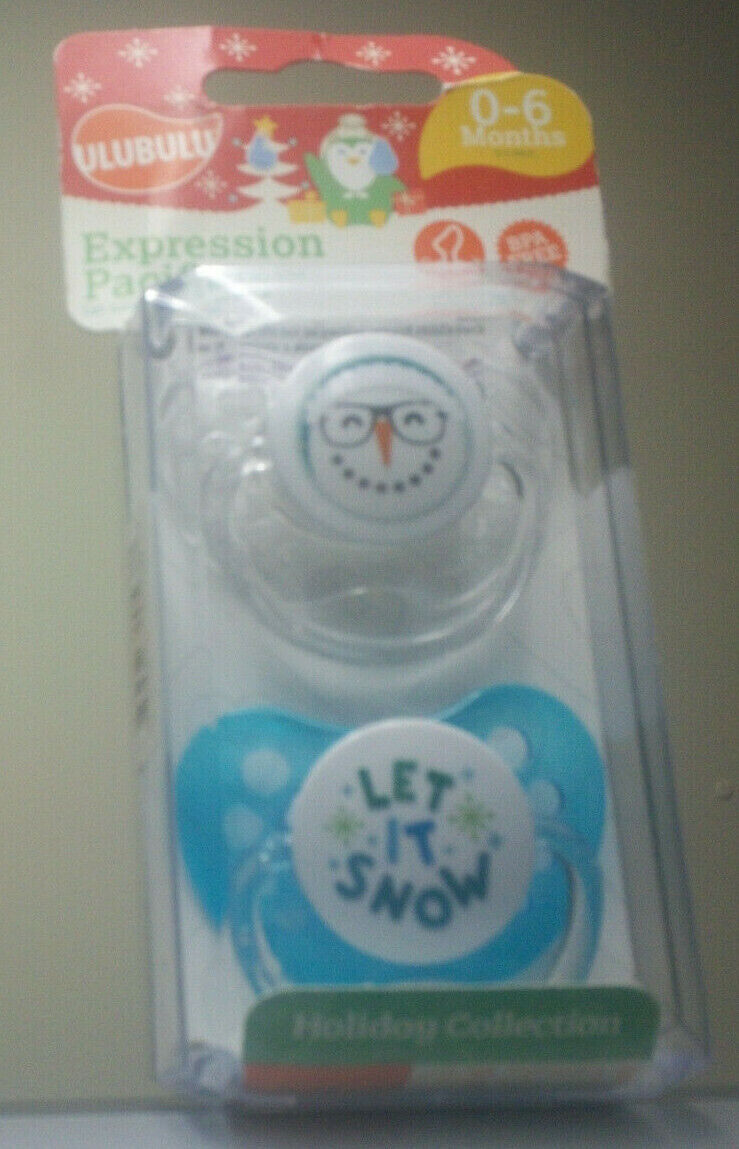 New Christmas Snowman Baby Ulubulu Expression Pacifier Clip