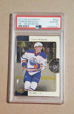 2015 SP Authentic 1995-96 Retro Premier Prospects Connor McDavid PSA 10