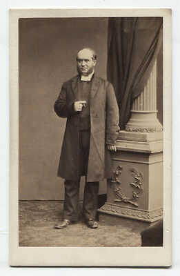 CDV BALDING MAN WITH MUTTONCHOP SIDEBURNS. DUBLIN, - Muttonchop Sideburns