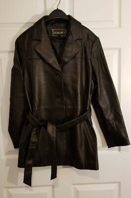 Vintage CASABLANCA women Leather Jacket. Size L