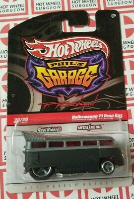 Hot Wheels Phil's Garage Volkswagen T1 Drag Bus * Gray * NIP 1:64 Scale