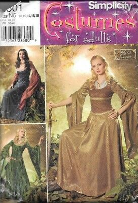 Simplicity 0501 Costume Lord of Rings Princess Andrea Schewe SZ N5 - UNCUT