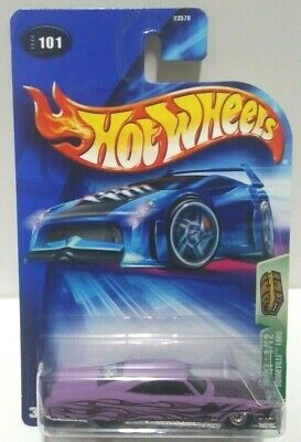 2004 Hot Wheels Treasure Hunt Pontiac Bonneville 1965 Real Riders! w/Protector