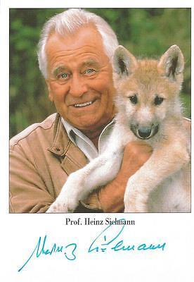 Autogramm Prof. Heinz Sielmann 2006 verstorben Tierfilmer schöne Karte selten #