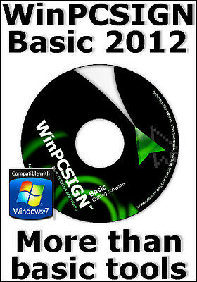 Cutting Software Winpcsign Basic 2012 - For All Vinyl Cutter Plotter - Unlimited