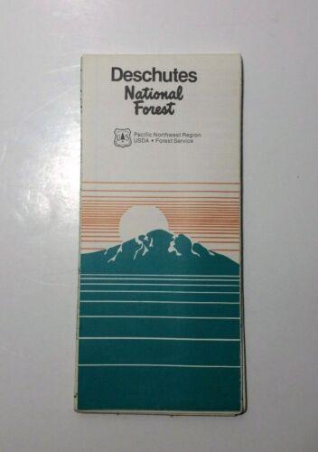 1982 Deschutes National Forest USFS Map Oregon Vintage