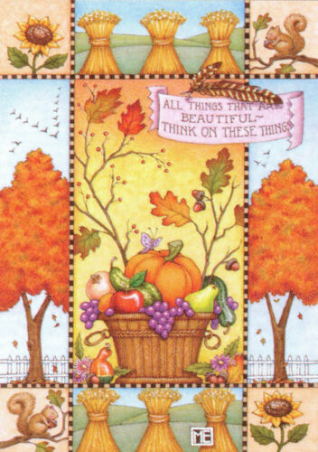 ALL THINGS BEAUTIFUL-Handcrafted Fall Fridge Magnet-w/Mary Engelbreit art