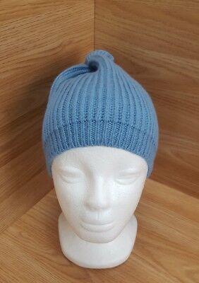Woolen Hat Beanie Winter Warm Light Blue Speckled Made in Scotland  Mens  #1 B1 ()