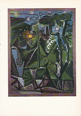 "1955 Vintage ""NIGHT LANDSCAPE"" by PICASSO Color Art Plate offset Lithograph"