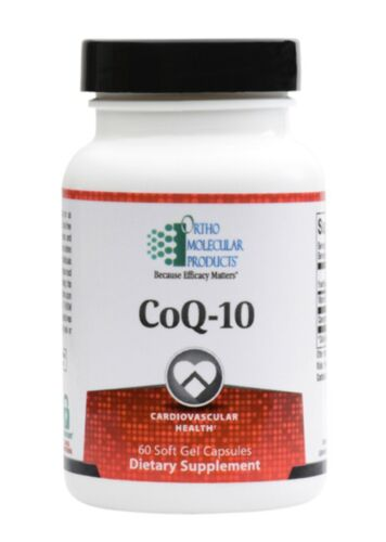 Ortho Molecular CoQ-10 60 Soft Gel Capsules Exp. 11/21 FRESH & FAST