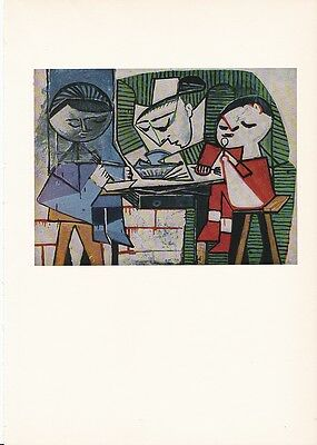 "1955 Vintage ""THE MEAL"" PABLO PICASSO RESTAURANT Color Plate offset Lithograph"