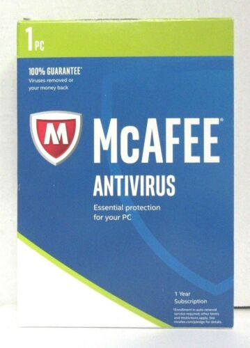McAfee MAB17EBB1RAA AntiVirus 2017 (1 Device) (1-Year Subscription) Windows