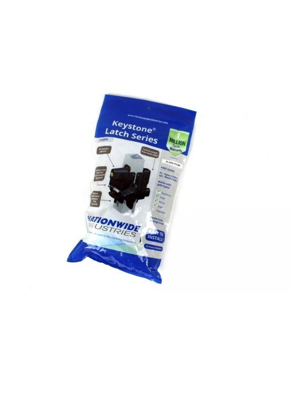 Keystone Latch Series KLADV-P2-BK  Black Nylon Polymer Key-Lockable Latch 2 Side
