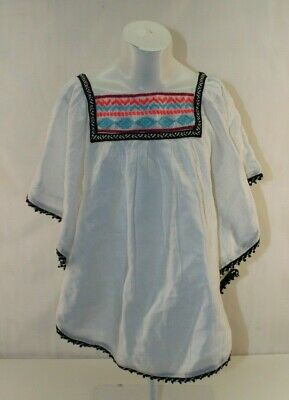 Girls Poncho Cat&Jack Embroidered Dressy Holiday Size M -