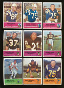 1962 Fleer Football Lot