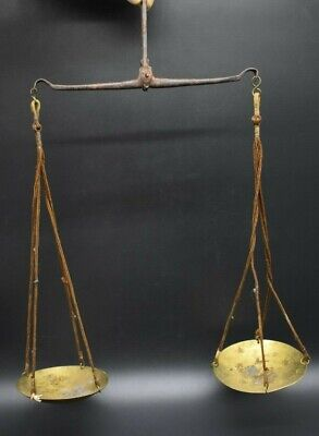 English antique scales for bullion C. 19th century AD - with makers mark