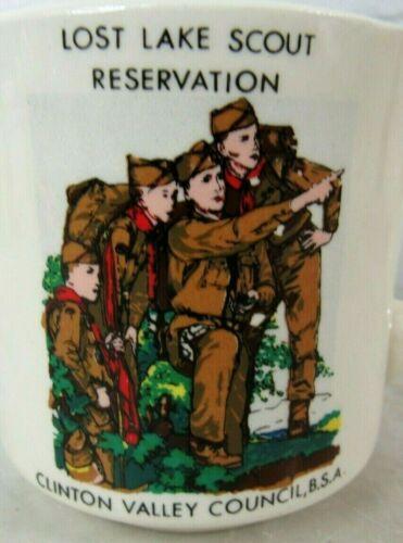 Vintage BSA Boy Scouts of America Coffee Mug LOST LAKE RESERVATI CLINTON VALLEY