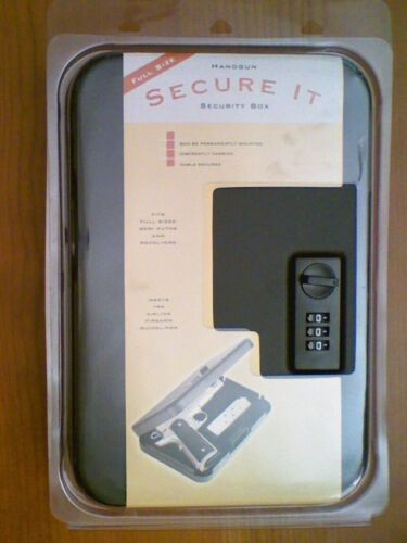 Secure-It Security Personal Lockbox Safe (Secure Firearms and Valuables)