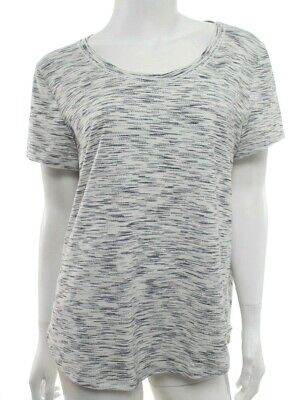 Lululemon Womens 8 Black White Meant To Move Tee T Shirt Top Tiger Space Dye EUC