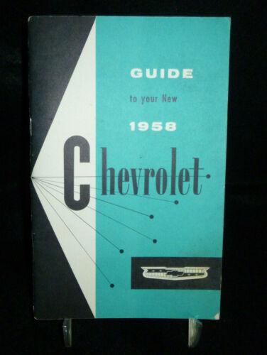 Original Owners Manual 1958 Chevrolet Manual Chevy Collectible Memoralbilia