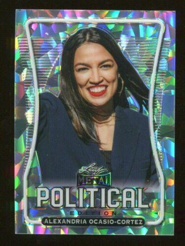 AOC ALEXANDRIA OCASIO CORTEZ 2020 LEAF METAL POLITICAL CRYSTAL PRISM CARD  / 35