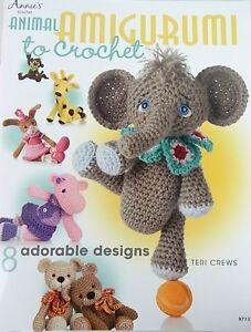 CROCHET PATTERN BOOK Animal Amigurumi - 8 Designs - 11-12inches tall - Yarn Wool