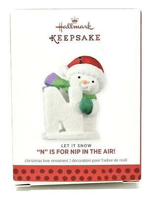 RARE NEW 2013 LET IT SNOW N IS FOR NIP IN THE AIR HALLMARK CHRISTMAS ORNAMENT