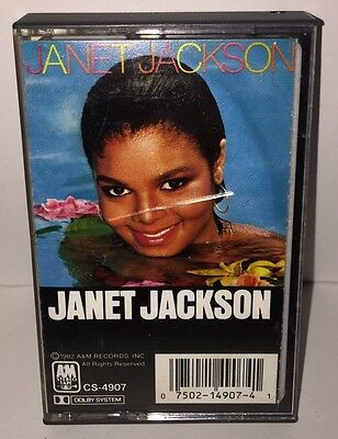 Janet Jackson 1982 Debut Cassette Tape Album Release A&M Records - Young Love
