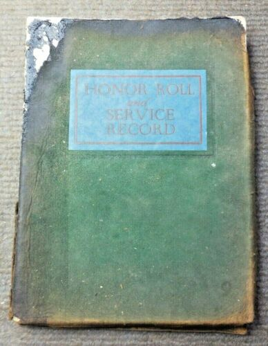 Antique 1920 Kay County Oklahoma Honor Roll & Service Record Men & Women In WW I