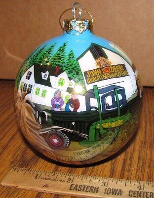 *John Deere Combine GP Tractor 2001 Christmas Ornament Thanksgiving Harvest 1st