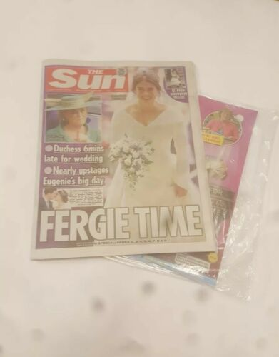 THE SUN - UK 13/10/18 - EUGENIE/JACK ROYAL WEDDING 12 PAGE SOUVENIR free uk pandp
