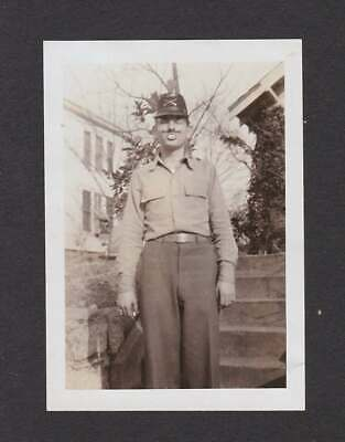 YOUNG GUY ODD TEETH HALLOWEEN COSTUME? PLAY? OLD/VINTAGE PHOTO SNAPSHOT- D239