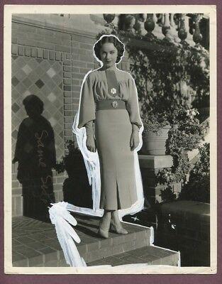 FAY WRAY 1935 White Lies Film William Fraker Robert Kalloch Dress Fashion J839
