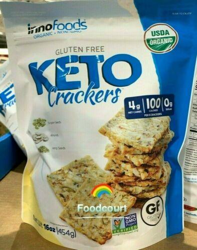 Innofoods Organic Gluten Free Keto Crackers 16 oz