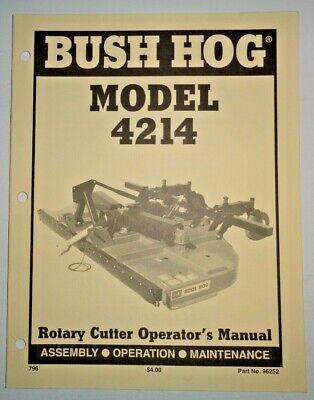 Bush Hog 4214 Rotary Mower Cutter Operators Maintenance Assembly Manual