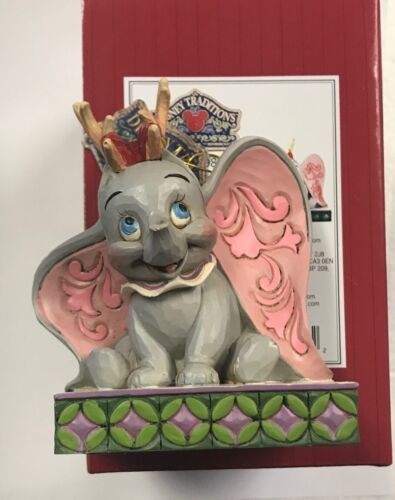 Disney Jim Shore 2021 Dumbo Reindeer Antlers Santa