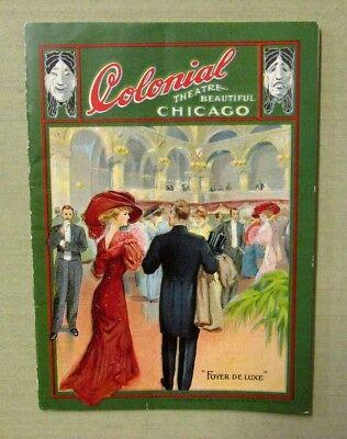 1910 COLONIAL THEATRE PROGRAM Chicago Miss Innocence Ziegfeld Fashion Furs 26 pg